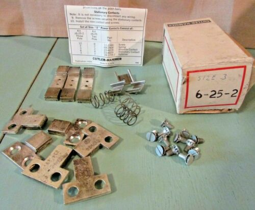 Cutler Hammer 6-25-2 Contact Kit