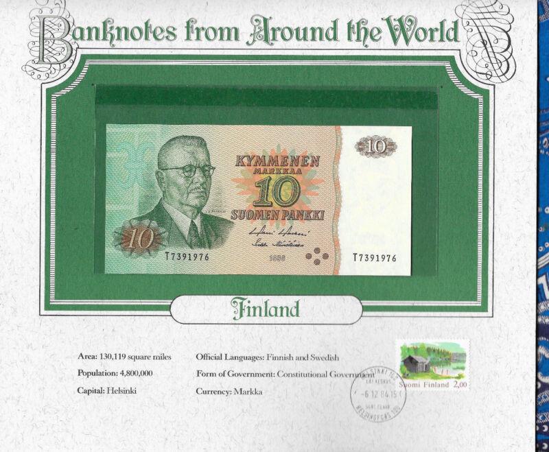 World Banknotes Finland 1980 10 Markkaa P 111a.50 UNC Birthday 1976