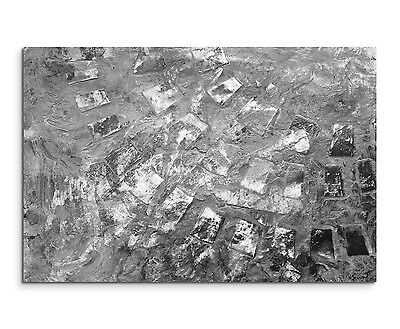 Leinwandbild abstrakt schwarz grau weiß Paul Sinus Abstrakt_804_120x80cm