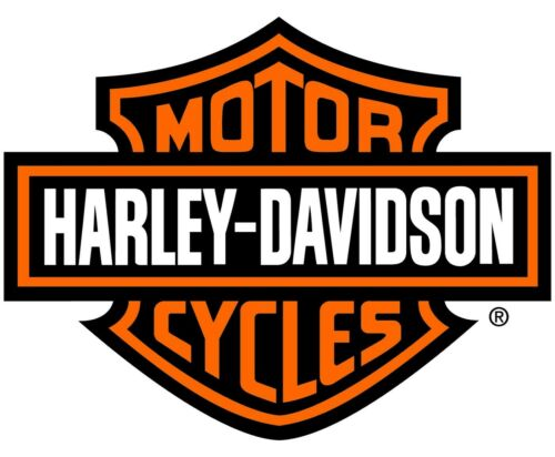 "Harley Davidson Orange Bar & Shield Extra Large Trailer Decal Sticker 19.5"" x 15"