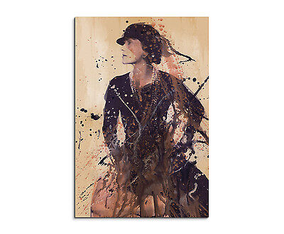 90x60cm PAUL SINUS Splash Art Gemälde Kunstbild Coco Chanel (Chanel Leinwand Bild)