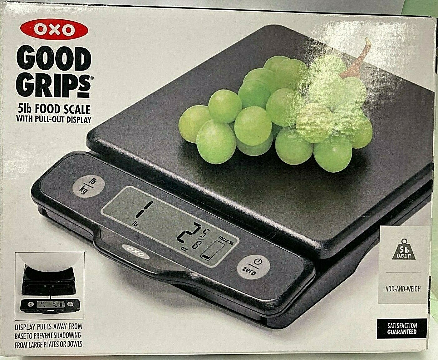 OXO Good Grips 5 Lb Food Scale with Pull-Out Display,