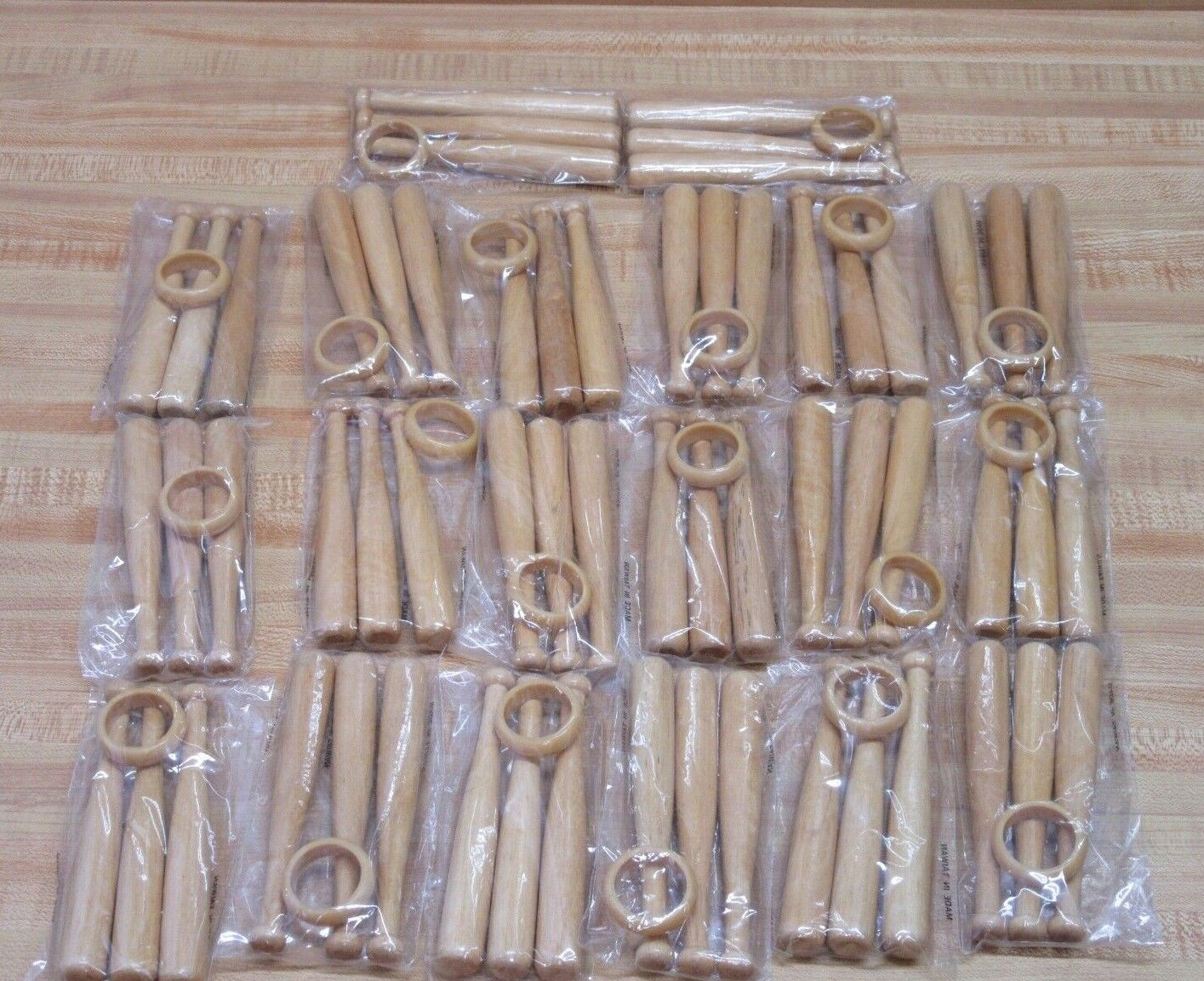 Lot of 60 Miniature 5 Wood Baseball Bats for Dolls or Personalized Team Gift
