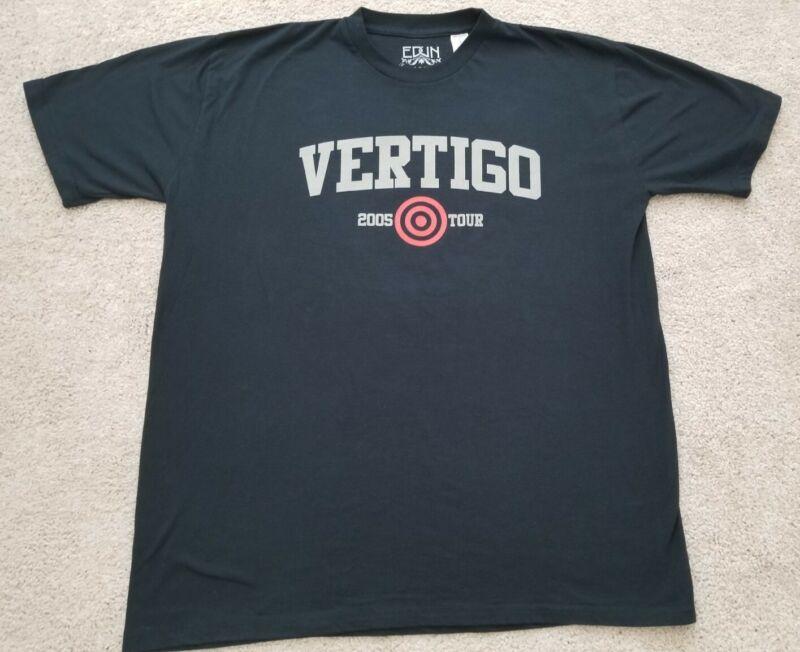 U2 Vertigo 2005 Concert Tour Edun Live Black Shirt Adult XXL