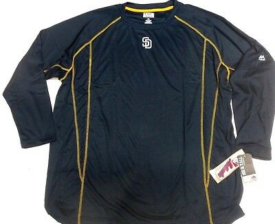 San Diego Padres On Field Practice Pullover Fleece New Majestic 3X 4X 5X