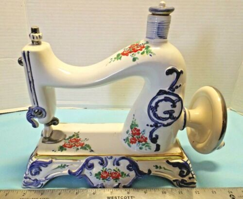 1970 DECANTER Cesare ITALY Porcelain Sewing Machine Decanter
