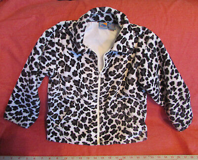Plush JACKET Faux FUR ANIMAL-PRINT w Working Zipper Nice Clean GIRL's SIZE - Working Girl Kostüm