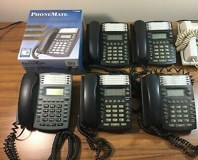 Business Phone System 5 Phonemate Pmg-4600 4-line Corded Speakerphone
