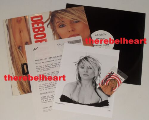 "DEBBIE HARRY Def Dumb & Blonde 1989 Press Kit PROMO 12"" SINGLE Photo TOUR PASS"