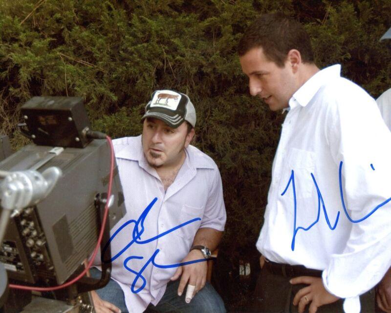 Frank Coraci & Adam Sandler autographs, signed photo