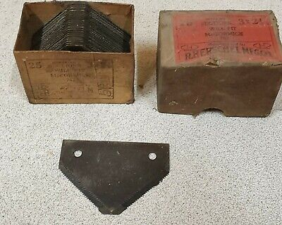 25 Vintage R.herschel Mfg Sickle Mower Sections Mccormick 7623x2 18nos Parts