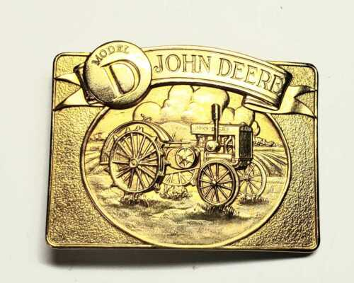 John Deere Model D Tractor Belt Buckle 24K Gold Plated Limited Edition /6000