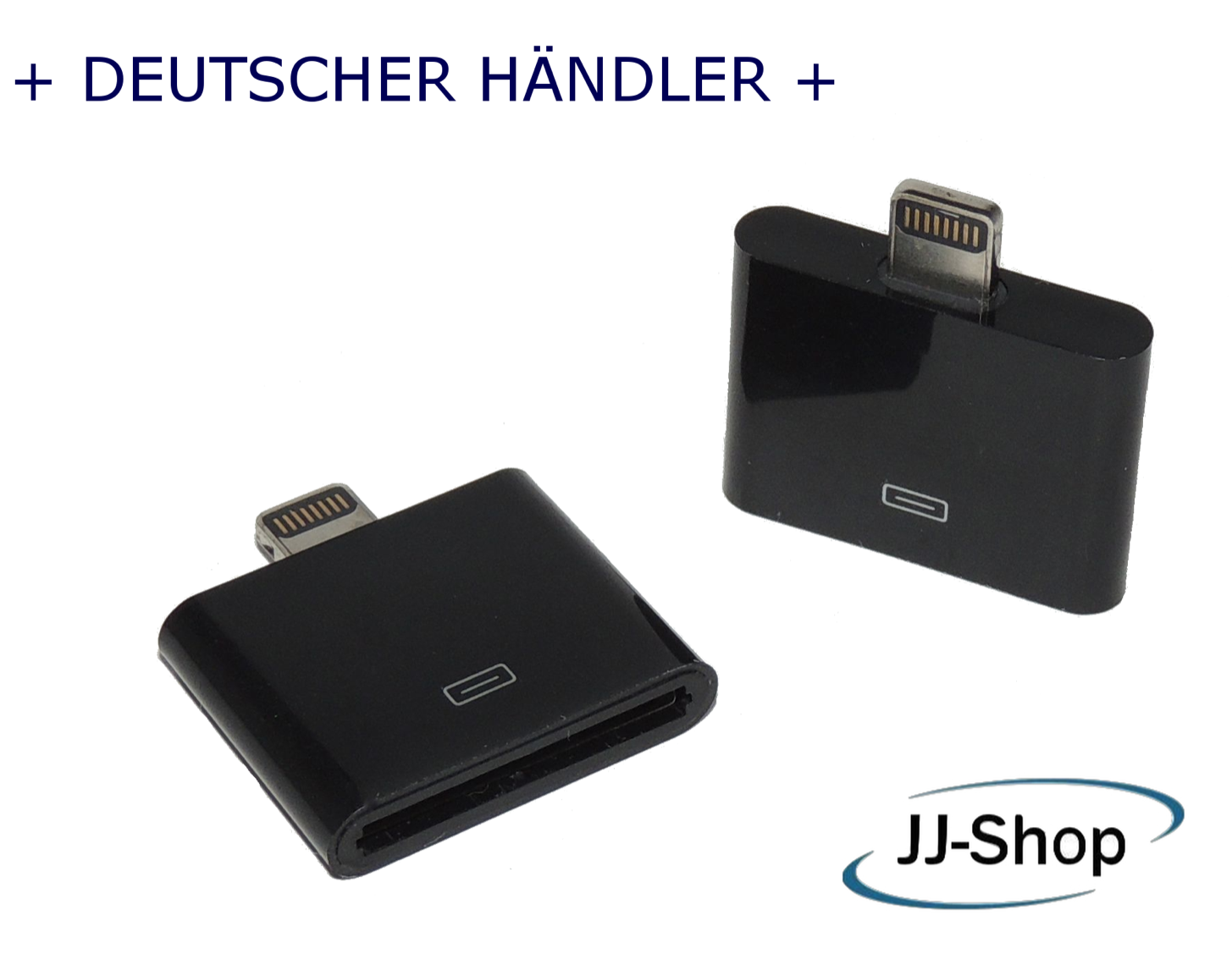 Lightning Adapter 8 auf 30-Polig für Apple iPhone 6 5 iPod iPad iPhone 4 schwarz