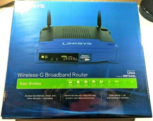 Linksys WRT54GL Wi-Fi Wireless-G Broadband Router , Blue / Black - NEW IN BOX