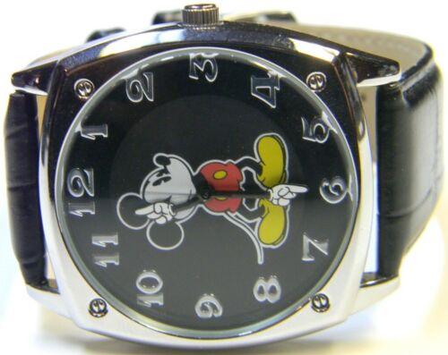 N2C Unisex Walt Disney Mickey Mouse Square Tank Black Quartz 40mm Dress Watch