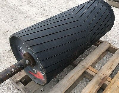 36 Drive Roller - 36 Inch Conveyor Rubber Lagged Head Roller - Coal Gravel Sand