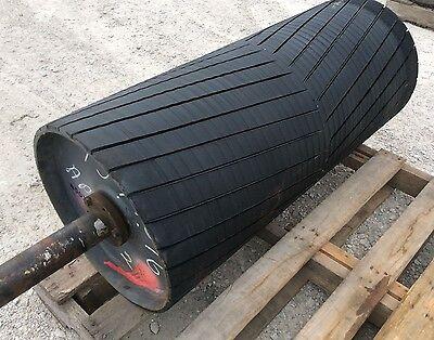 36 Drive Roller - 36 Inch Conveyor Rubber Lagged Head Roller - Coal Gravel Sand