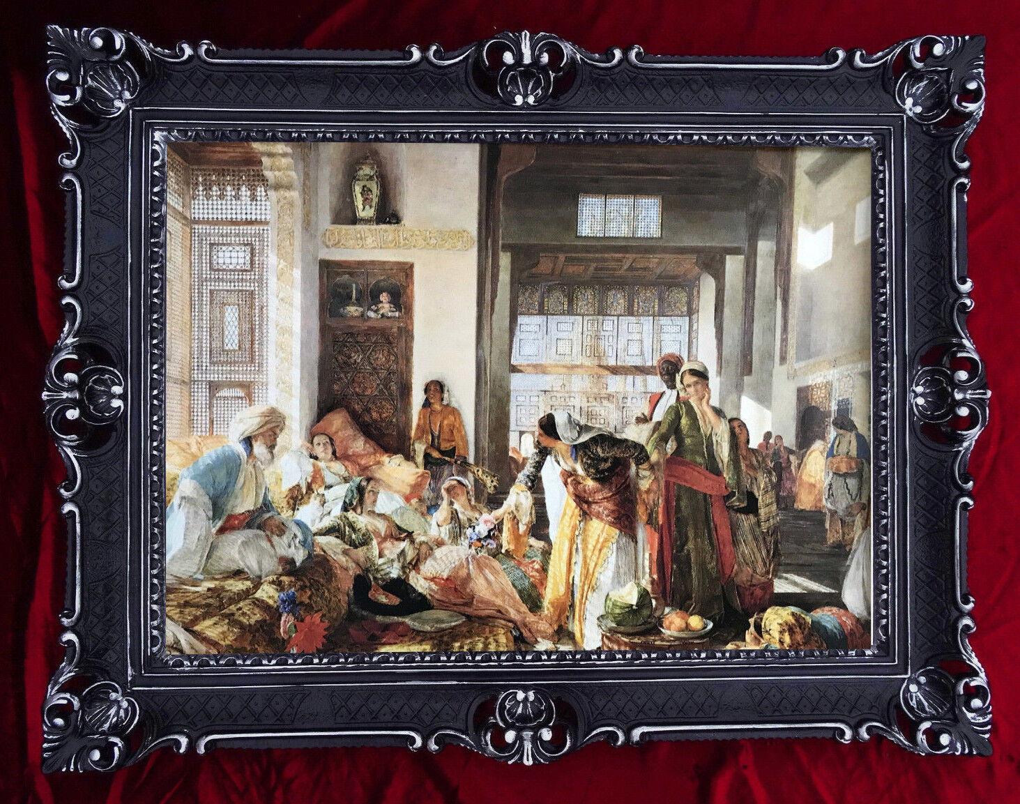Gem lde orient basar orientalische bilder harem barock 90x70 wanddeko neu ebay - Orientalische wanddeko ...