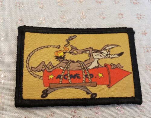 Road Runner Wile E Coyote Morale Patch Funny Tactical Military USA flag Badge