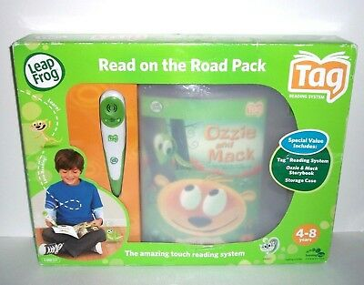 LeapFrog Tag Reading System In Box On the Road Pack Storage Case Book Pen CD USB
