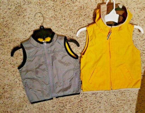 2 Boys Vests, Size 12- 24 Months. Baby Gap Nylon & Old Navy Fleece Lined.