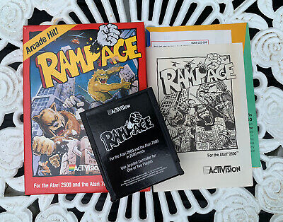 RAMPAGE Atari Game Activision 1980s NICE Complete