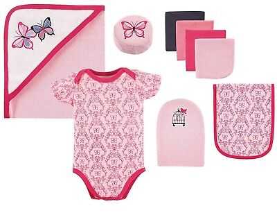 HUDSON BABY:  9-Piece Bath Time Gift Box Set - Butterfly