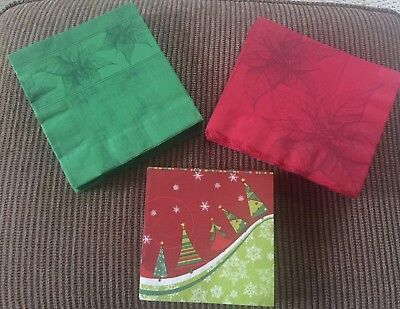 Lot of Misc Christmas/Holiday Party/Tableware Paper Napkins 220 ct FREE - Paper Christmas Tableware