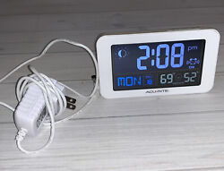 Acurite Model 13040 Intelli-time Alarm Clock Temperature Working Condition MP1