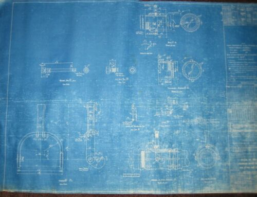 Vintage Blueprint US Navy Yard Mare Island CA