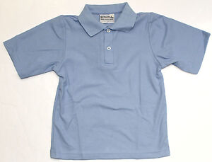 Kids-Polo-Shirt-Size-6-Sky-Blue-School-Top-Australian-Made-New