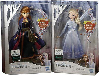 Disney Frozen 2 Light Up Singing Elsa and Anna Doll - Set of 2