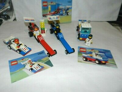 Vintages LEGO SYSTEM # 1990-1991-1992 DRAGSTERS Complete With - Instruction