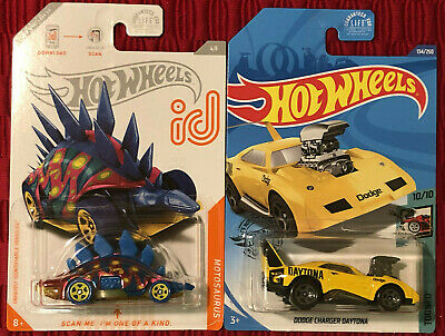 2020 Hot Wheels MOTOSAURUS ID CHASE & DODGE CHARGER DAYTONA Treasure Hunt Lot 2