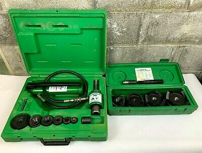 Greenlee 7306 12-2 7304 2-12-4 Hydraulic Knockout Punch Set 7310 Mint