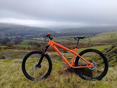 orange mountain bike small