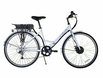 E-Plus 700c City E-Ride New White 27 inch Wheel Size Hybrid Electric Bike