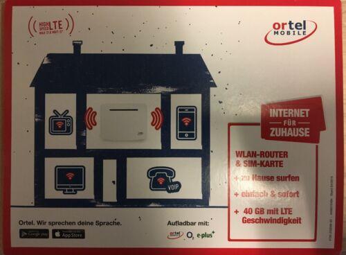 60 GB Ortel Mobile Internet Flat für Zuhause + Router + Prepaid Sim  + Surf Flat