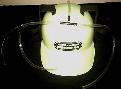 GLOW IN THE DARK DRINKING HAT BEER SODA SPORTS GAMES HALLOWEEN ONE SIZE FUNNY @@