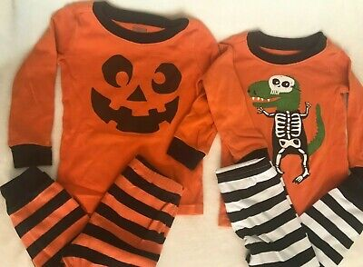 Duo Halloween Outfits (Halloween Size 2T Toddler 2 Pair 2 Piece Outfits Pajamas PJs Long Sleeve)