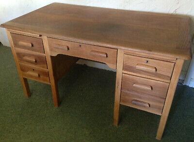 Vintage Teachers hard wood office desk industrial home craft work shop