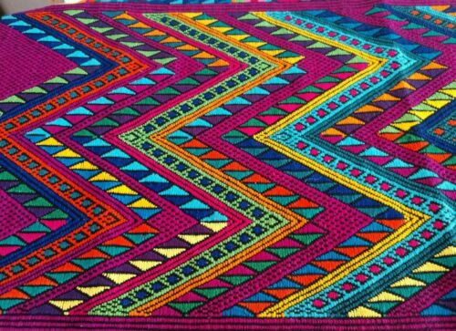 Guatemalan Chi Chi Table runner handwoven by natives of Guatemala in traditional