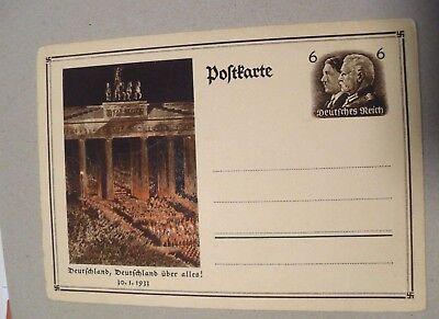"GERMANIA,GERMANY 1933 Postkarte  REICH ,""HITLER & Hindeburg 1 Cartolina Postale"