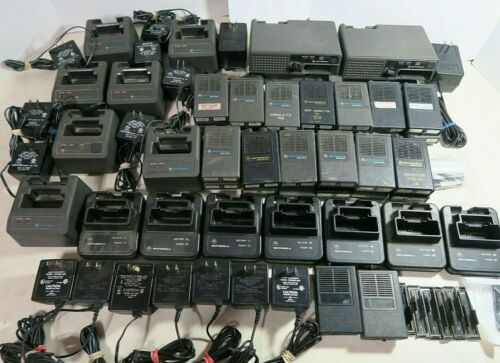 Motorola Minitor II Pagers and Chargers - Large Lot - Untested