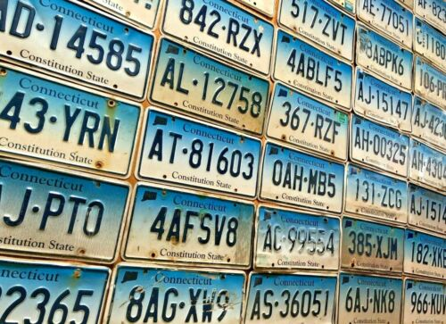 20 Craft Condition Connecticut License Plates