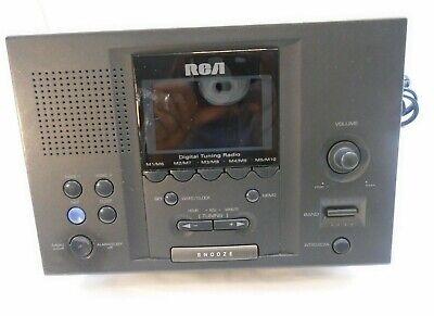 RCA Digital AM/FM Dual Alarm Clock Radio Station Presets Model RP3721A