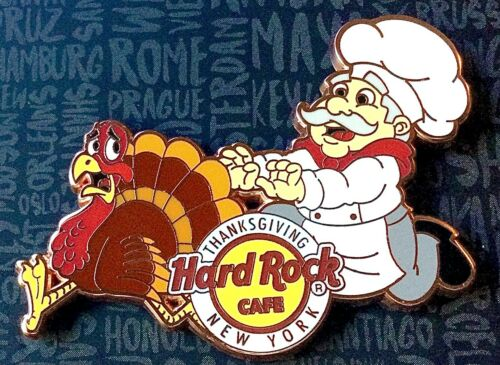2020 HARD ROCK CAFE NEW YORK CITY THANKSGIVING DAY PARADE TURKEY CHEF LE PIN