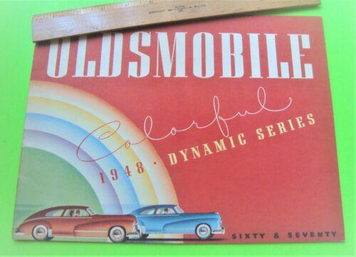 1948 OLDSMOBILE FULL LINE BIG DLX BROCHURE 20-pgs WOODIE WAGON Convertible XLNT+