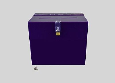 Suggestion Box / Collection Box Lockable - BB0005 Purple