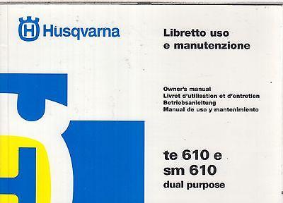 HUSQVARNA TE 610 & SM 610 ORIGINAL OWNERS INSTRUCTION MANUAL